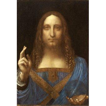Tableaux religieuses - Tableau -Salvator Mundi, c.1500, huile sur noix- - Vinci, Leonardo da