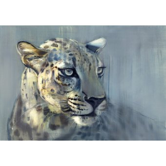 - Tableau -Predator II (Arabian Leopard), 2009 (oil on paper)- - Adlington, Mark