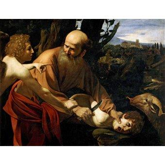 Tableaux religieuses - Tableau -Le Sacrifice d'Isaac- Caravage - Caravaggio, Michelangelo M.