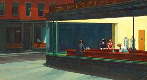 tableaux-de-paysages - Tableau - Nighthawks, 1942 - - Hopper, Edward