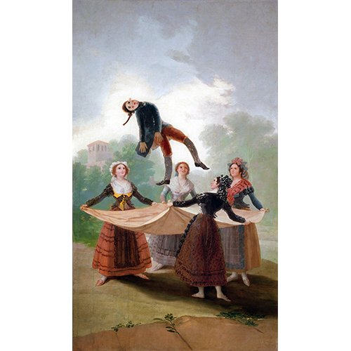 Tableau -El Pelele (The Puppet) 1791-2 (oil on canvas).-
