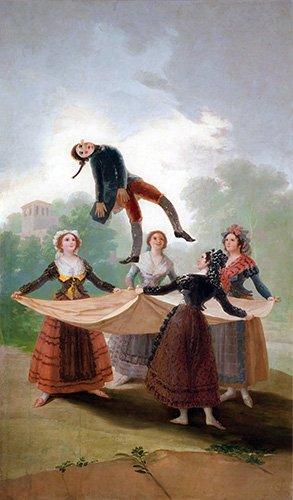 tableaux-de-personnages - Tableau -El Pelele (The Puppet) 1791-2 (oil on canvas).- - Goya y Lucientes, Francisco de