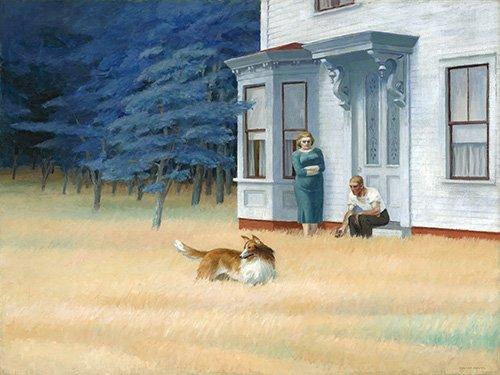 tableaux-de-paysages - Tableau - Cape Cod Evening, 1939- - Hopper, Edward