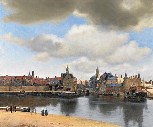 tableaux-de-paysages - Tableau -Vue de Delft- - Vermeer, Johannes
