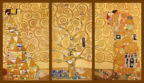 tableaux-pour-salon - Tableau -L'Arbre de vie (triptyque) - - Klimt, Gustav