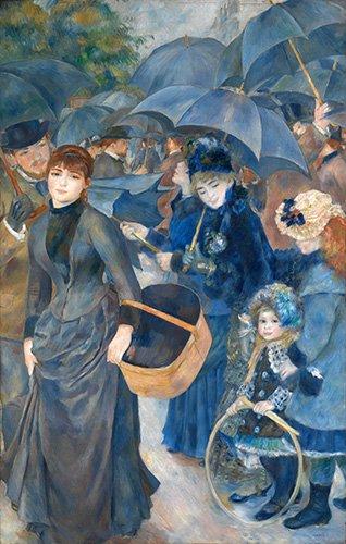 tableaux-de-personnages - Tableau -Les parapluies, (1881-86)- - Renoir, Pierre Auguste