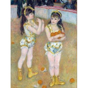 Tableaux pour enfants - Tableau - Acrobates au Cirque Fernando également connu sous le nom de Francisca et Angelina Wartenberg, 1879- - Renoir, Pierre Auguste