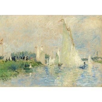 Tableaux de paysages marins - Tableau -Régates à Argenteuil, 1874 - - Renoir, Pierre Auguste