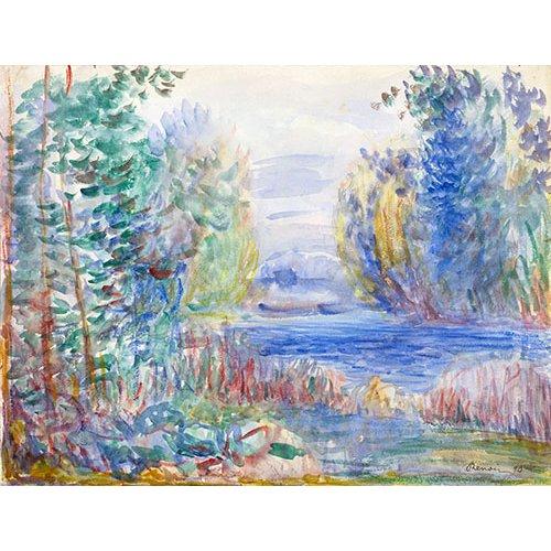 Tableau -Paysage fluvial, 1874 -