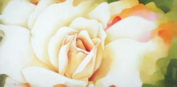 tableaux-de-fleurs - Tableau -The Rose, 1997- - Sim, Myung-Bo
