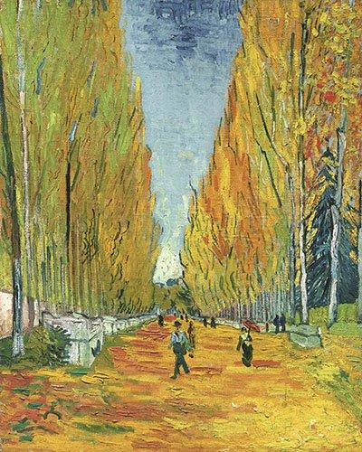 tableaux-de-paysages - Tableau -L'Allée des Alyscamps- - Van Gogh, Vincent