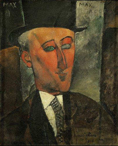 tableaux-de-personnages - Tableau -Portrait de Max Jacob- - Modigliani, Amedeo