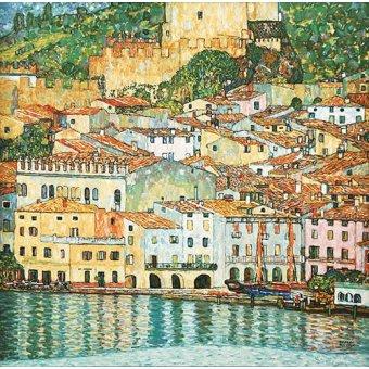 Tableaux de paysages marins - Tableau -Malcesine sur le lac de Garde- - Klimt, Gustav