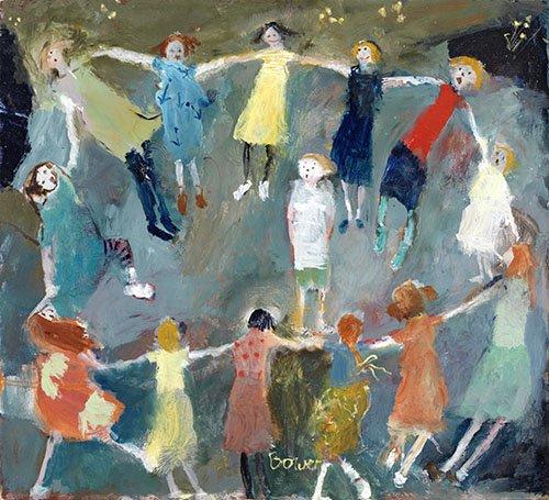 tableaux-modernes - Tableau -Farmer in the Den, 2009 (oil on board)- - Bower, Susan