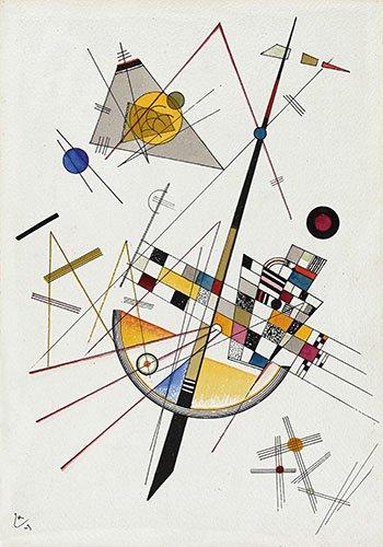 tableaux-abstraits - Tableau - Tension douce no-85 - - Kandinsky, Vassily