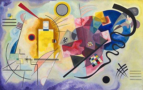tableaux-abstraits - Tableau - Jaune, Rouge, Bleu - - Kandinsky, Vassily