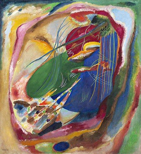tableaux-abstraits - Tableau - Peinture aux trois taches, 1914 - - Kandinsky, Vassily