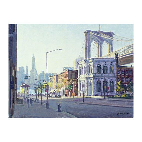 Tableau -Brooklyn Bridge, New York (oil on canvas)-