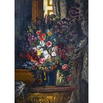 Tableau - Vase de fleurs à la console -