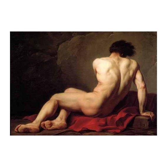 pinturas do retrato - Quadro -Hombre desnudo conocido como Patroclus-