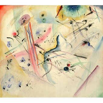 - Tableau -Composition with Red and Blue Stripes, 1913 - - Kandinsky, Vassily