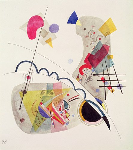 tableaux-abstraits - Tableau - Grave Forme, 1922 (pen and ink and wc on paper) - - Kandinsky, Vassily