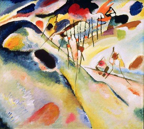 tableaux-abstraits - Tableau - Landscape, 1913 - - Kandinsky, Vassily