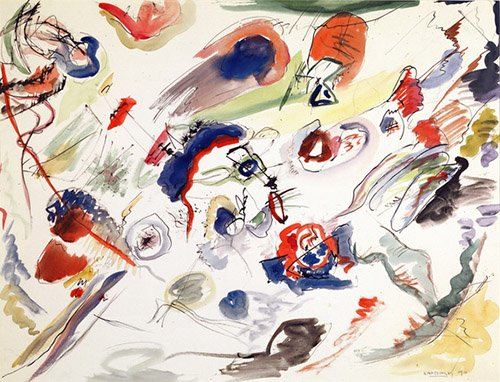 tableaux-abstraits - Tableau - Untitled - First Abstraction, 1910 - - Kandinsky, Vassily