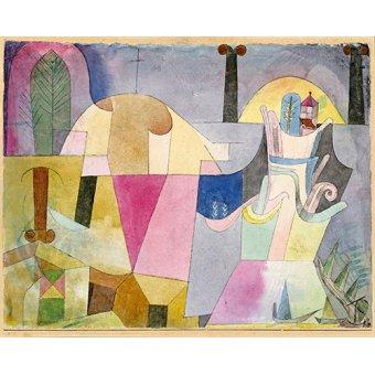 Tableaux abstraits - Tableau - Colonnes noires dans un paysage - - Klee, Paul