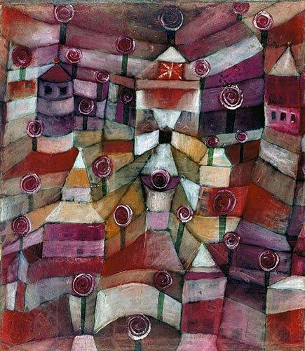 tableaux-abstraits - Tableau - Roseraie - - Klee, Paul