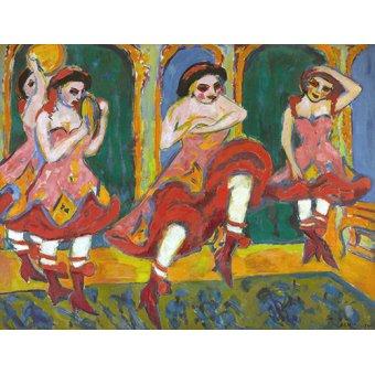 TABLEAUX POUR COULOIR - Tableau -Danseurs Czardas- - Kirchner, Ernst Ludwig