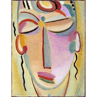 - Tableau -Tête mystique, méditation- - Jawlensky, Alexej von