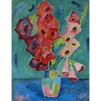 Tableaux de Fleurs - Tableau -Glaïeul, 1915- - Jawlensky, Alexej von