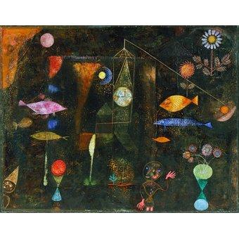 - Tableau - Magie des poissons - - Klee, Paul