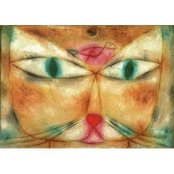 Tableaux de faune - Tableau - Chat et oiseau - - Klee, Paul