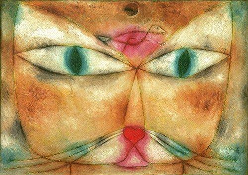 tableaux-pour-salon - Tableau - Chat et oiseau - - Klee, Paul