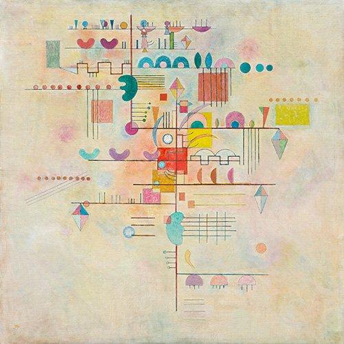tableaux-abstraits - Tableau -Gentle accent, 1934 - - Kandinsky, Vassily