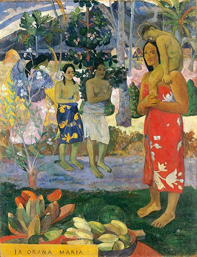 tableaux-de-personnages - Tableau -Ia Orana Maria- - Gauguin, Paul