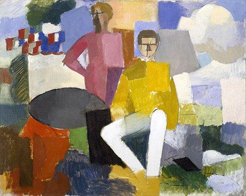 tableaux-abstraits - Tableau -Le 14 juillet- - Fresnaye, Roger de la