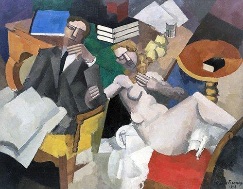 tableaux-de-personnages - Tableau -La Vie Conjugale- - Fresnaye, Roger de la
