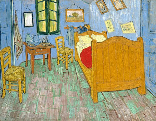 tableaux-nature-morte - Tableau -La Chambre de Van Gogh à Arles, (1889)- - Van Gogh, Vincent