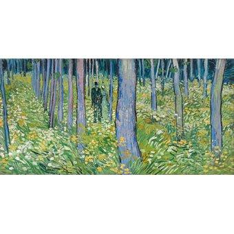- Tableau - Sous-bois avec deux personnages, 1890 - - Van Gogh, Vincent