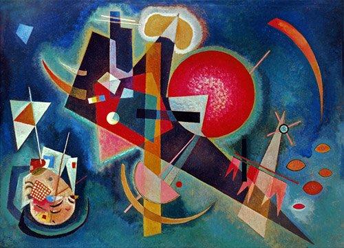 tableaux-abstraits - Tableau - En Bleu, 1925 - - Kandinsky, Vassily