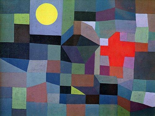 tableaux-pour-salon - Tableau - Feu, Pleine Lune, 1933 - - Klee, Paul