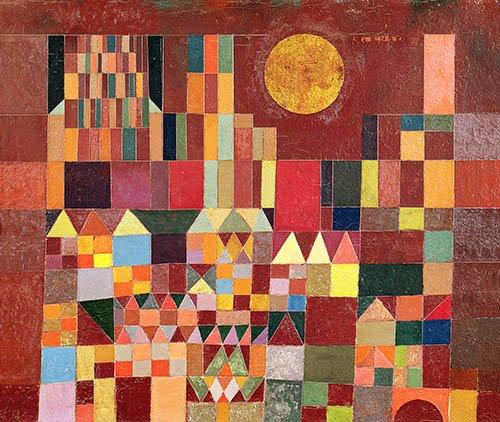 tableaux-pour-salon - Tableau - Château et Soleil, 1928 - - Klee, Paul