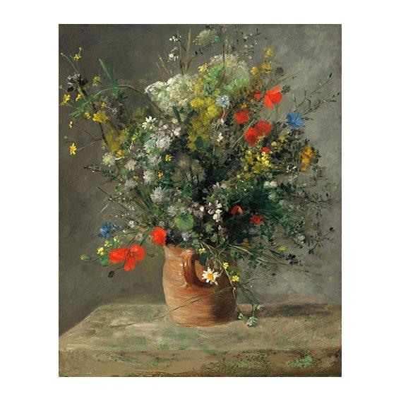 Tableau - Fleurs dans un vase, 1866 -