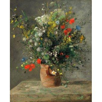 Tableaux de Fleurs - Tableau - Fleurs dans un vase, 1866 - - Renoir, Pierre Auguste
