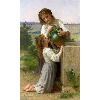 - Tableau - À la fontaine, 1897 - - Bouguereau, William