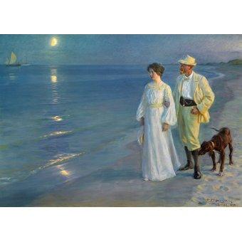- Tableau -Soirée d'été à la plage de Skagen, 1899- - Kroyer, Peder Severin