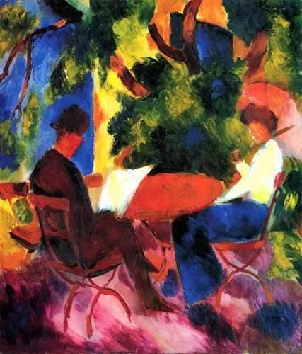 tableaux-de-personnages - Tableau -August Macke 034- - Macke, August